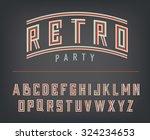 retro typography design font... | Shutterstock .eps vector #324234653