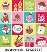set of christmas card design | Shutterstock .eps vector #324235364
