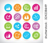 data analytics icons set | Shutterstock .eps vector #324238649