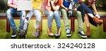 diversity teenagers friends... | Shutterstock . vector #324240128