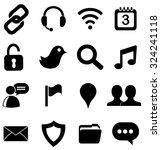 internet web icons set | Shutterstock .eps vector #324241118