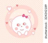 kitty girl | Shutterstock .eps vector #324242189