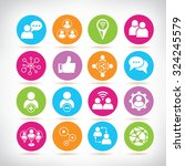social media and network icons   Shutterstock .eps vector #324245579