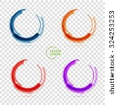 circle set. vector illustration.... | Shutterstock .eps vector #324253253