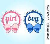 it's a girl and boy text | Shutterstock .eps vector #324253949