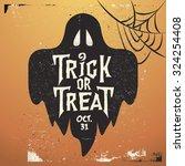 retro vintage halloween vector... | Shutterstock .eps vector #324254408