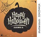 retro vintage halloween vector... | Shutterstock .eps vector #324254414