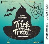 retro vintage halloween vector... | Shutterstock .eps vector #324254420