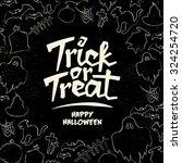 hand drawn halloween vector...   Shutterstock .eps vector #324254720