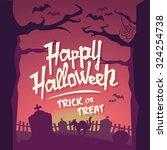 scary halloween vector... | Shutterstock .eps vector #324254738