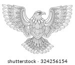 Flying Eagle Coloring Page In...
