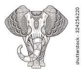 Graceful Elephant Coloring Pag...