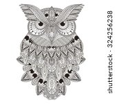 Sumptuous Owl Coloring Page In...