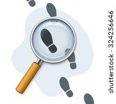 footprints through a magnifying ... | Shutterstock .eps vector #324256646