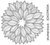 pattern for coloring book.... | Shutterstock .eps vector #324259034