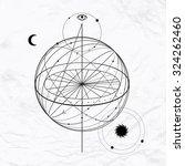 vector geometric alchemy symbol ... | Shutterstock .eps vector #324262460