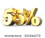 3d golden percentage discount... | Shutterstock . vector #324266273