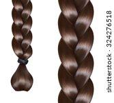 french braid  vector seamless...   Shutterstock .eps vector #324276518