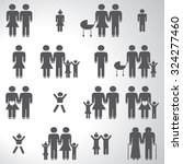 family icons set illustration  | Shutterstock .eps vector #324277460