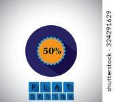 flat design icon of 50 ...