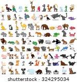 set of 100 cute cartoon animals | Shutterstock .eps vector #324295034