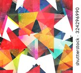 bright triangle seamless... | Shutterstock .eps vector #324296990