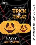 halloween party pumpkin poster ... | Shutterstock .eps vector #324297176