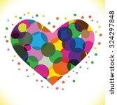 heart vector illustration icons ... | Shutterstock .eps vector #324297848