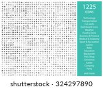 set of 1225 icons  for web ... | Shutterstock . vector #324297890
