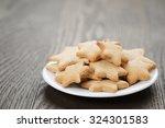 Christmas Cookies On Rustic...