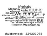 black welcome in different... | Shutterstock .eps vector #324303098