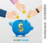 saving money  money saving... | Shutterstock .eps vector #324303803
