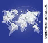world map connection. business... | Shutterstock .eps vector #324303926