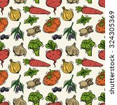 seamless pattern with... | Shutterstock .eps vector #324305369