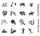 activity sport icon vector set... | Shutterstock .eps vector #324309806