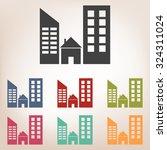 real estate icon set | Shutterstock .eps vector #324311024
