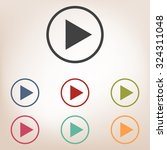 play icon set | Shutterstock .eps vector #324311048