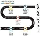timeline infographics template... | Shutterstock .eps vector #324313490