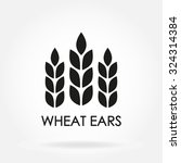 wheat ears or rice icon. crop ... | Shutterstock .eps vector #324314384