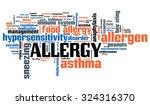 allergy   health concepts word... | Shutterstock . vector #324316370