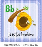 flashcard letter b is for... | Shutterstock .eps vector #324316916