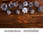 xmas holiday background with... | Shutterstock . vector #324320000