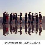 outdoor business meeting in new ... | Shutterstock . vector #324322646