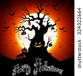 halloween background on the... | Shutterstock . vector #324322664