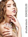 close up portrait of teen girl... | Shutterstock . vector #324323120