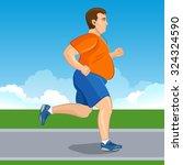 illustration of a fat cartoon... | Shutterstock . vector #324324590