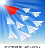 paper planes follow their... | Shutterstock . vector #324330419