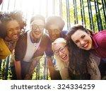friends friendship walking park ...   Shutterstock . vector #324334259