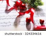 Christmas Decor On Music Notes...