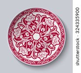 circular unusual red floral... | Shutterstock .eps vector #324335900